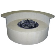 Graysen Woods Circular Fire Pit with Dining Ledge